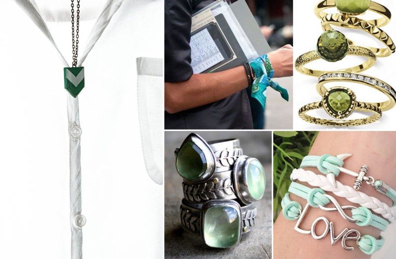 chic ways to wear green accessories