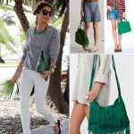 chic ways to wear green bags