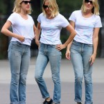 Chloe Sevigny Jeans Tee outfit
