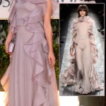 Chloe Sevigny Valentino lilac dress Golden Globes 2010