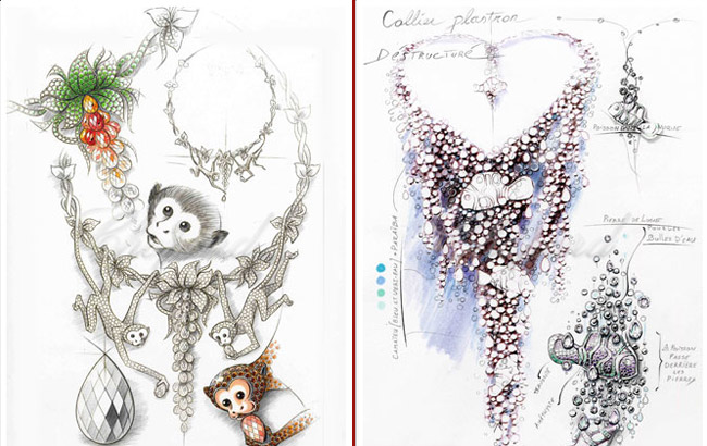 Chopard Animal World Collection drawings