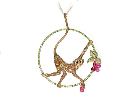 Chopard Animal World Collection Monkey Pendant