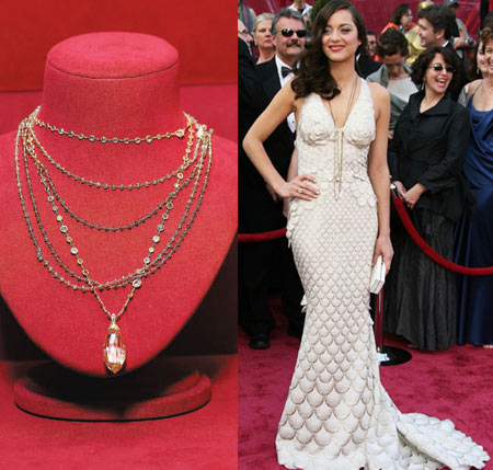 The Chopard Necklace worn by Marion Cotillard for Oscar 2008