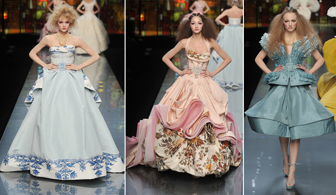 Christian Dior Couture Spring 2009 blue peach