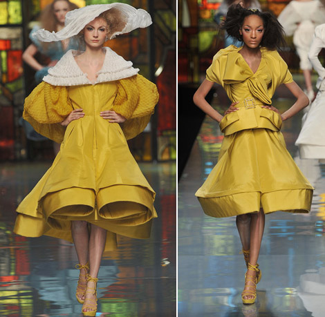Christian Dior Couture Spring 2009 yellow