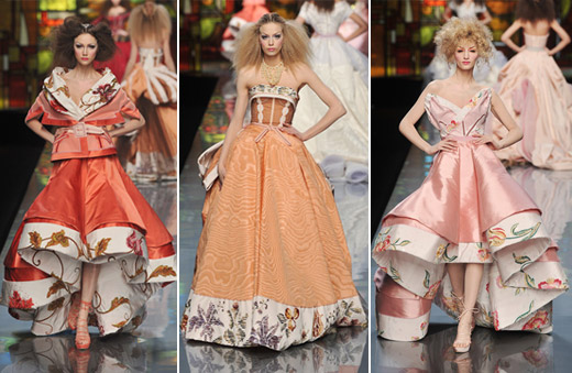 Christian Dior Couture Spring 2009 peach
