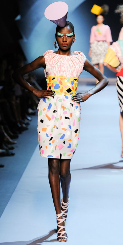 Christian Dior Haute Couture Fall 2011 Ajak Deng