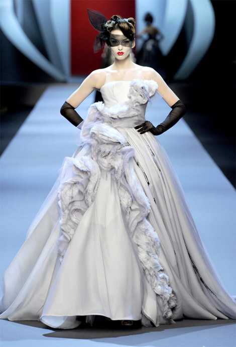 Christian Dior Haute Couture Spring Summer 2011 Georgina Stojilkovic