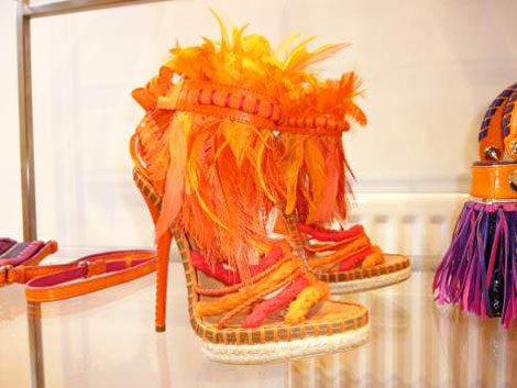 Christian Dior orange sandals SS 2011