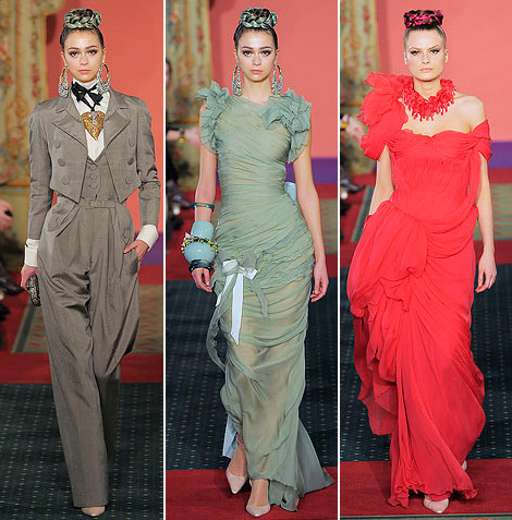 Christian Lacroix Couture Spring 09 red beige