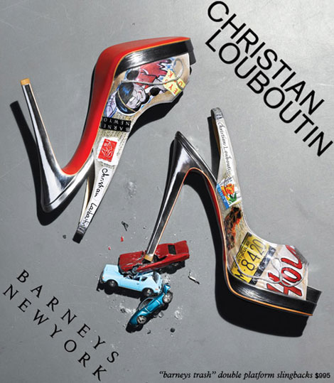 Christian Louboutin Barneys Trash slingbacks
