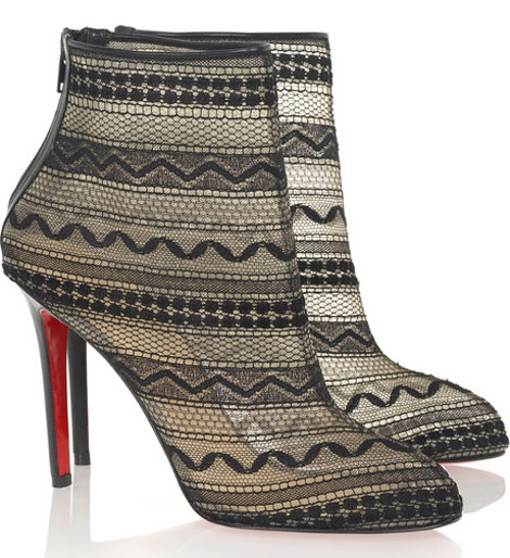 Christian Louboutin Lace Paola 100 Ankle boots