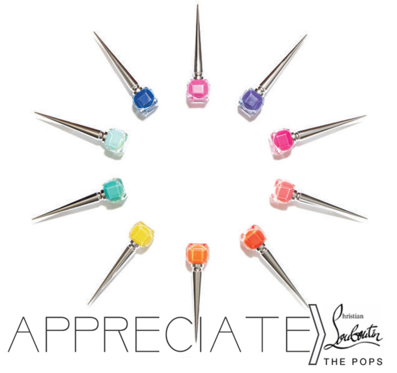 Christian Louboutin Nail Polish the Pops colors