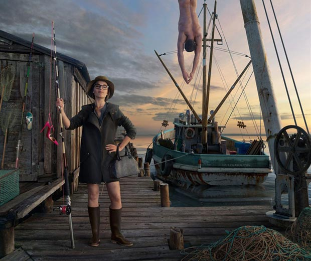 Christian Louboutin Spring 2013 shoes fishing Campaign