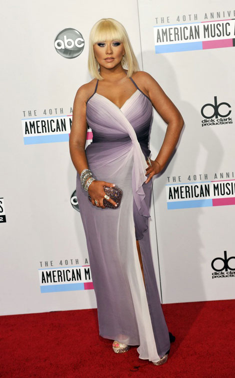 Christina Aguilera Red Carpet disaster AMAs 2012