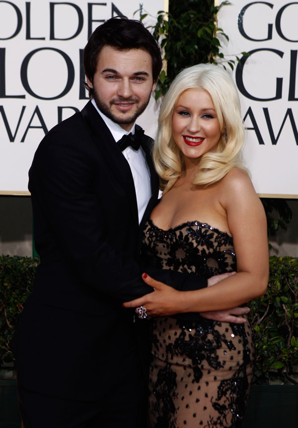 Christina Aguilera Zuhair Murad dress Golden Globes 2011 2