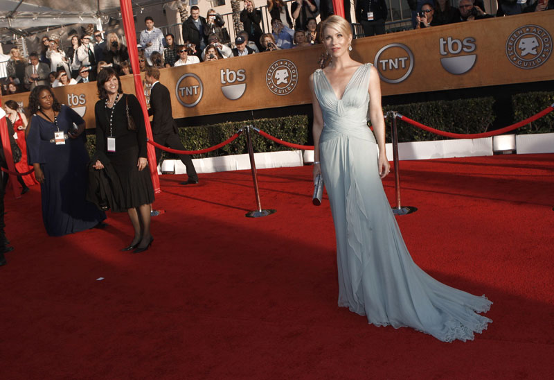 Christina Applegate blue dress 2010 SAG Awards 2