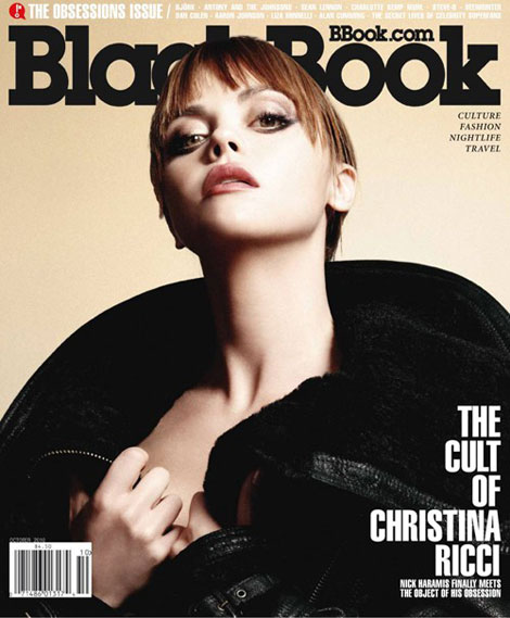 Christina Ricci BlackBook Magazine October 2010 cover