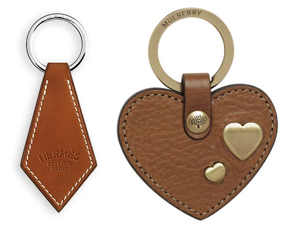 christmas gifts for fashionistas designer key rings hermes mulberry