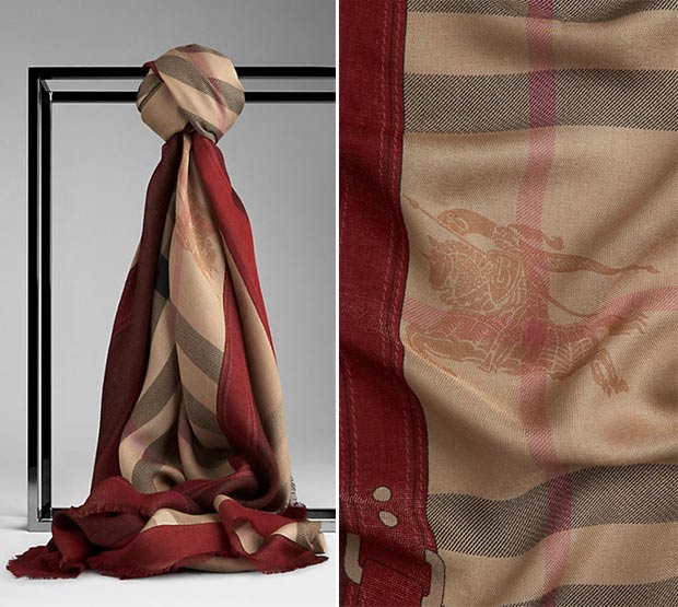 christmas gifts for fashionistas designer scarf burberry