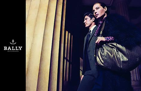 Christy Turlington Bally fall 2009 ad campaign