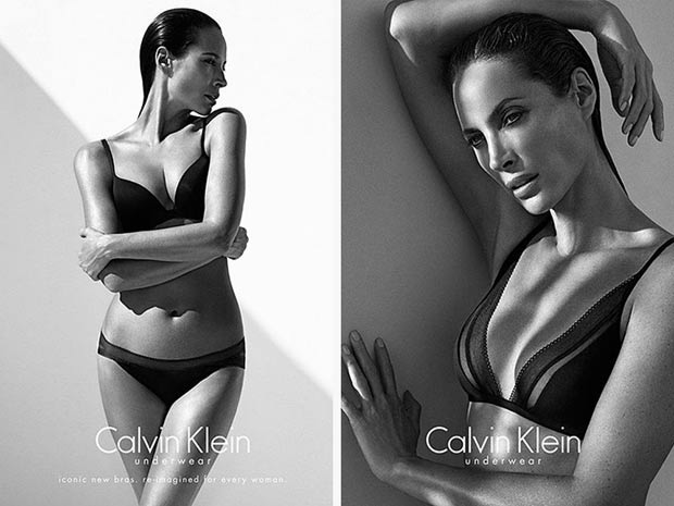 Christy Turlington black and white CK underwear ads