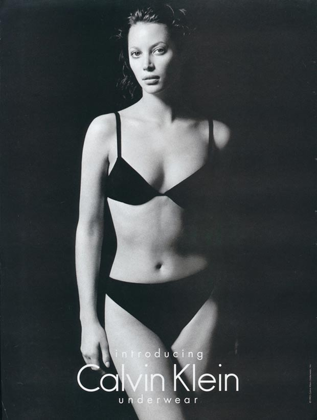 Christy Turlington Calvin Klein underwear ads 1995