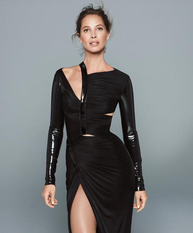 Christy Turlington fabulous at 44 Harper s Bazaar
