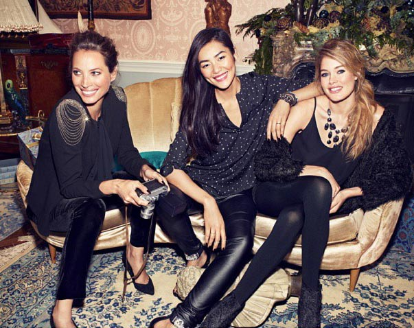 Christy Turlington Liu Wen Doutzen Kroes HM Holiday campaign