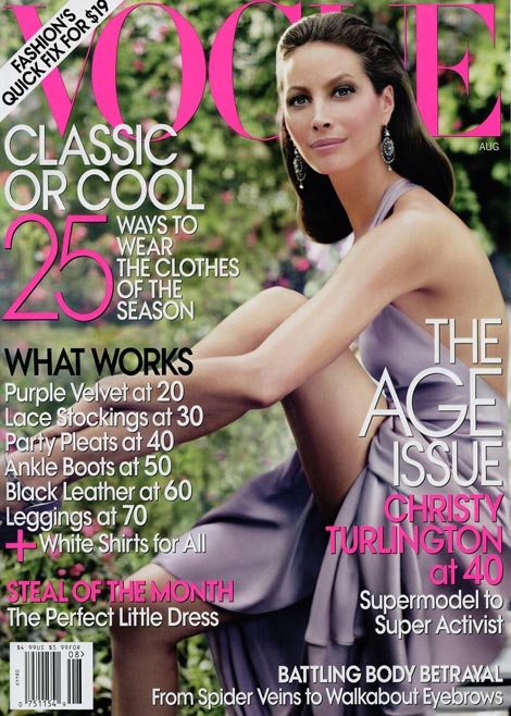 Christy Turlington Vogue August 2009 cover