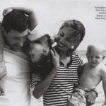 Christy Turlington Vogue August 2009 family