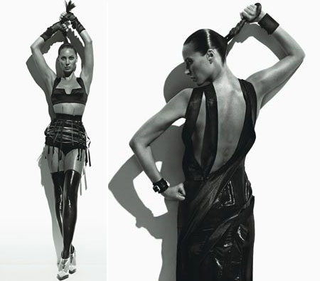 Christy Turlington W Magazine August 2008 Black and White Photos