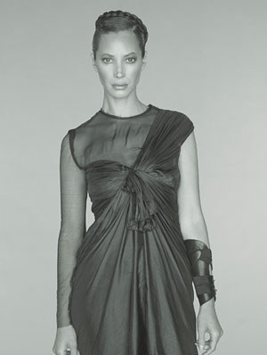 Christy Turlington W Magazine August 2008 Photo Grecian Style Dress