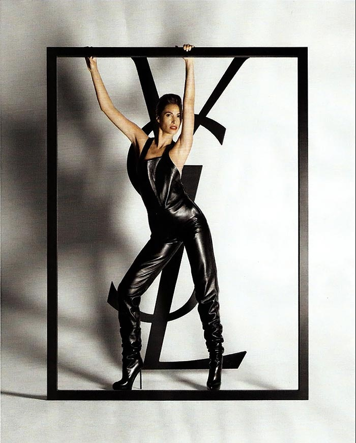 Christy Turlington YSL FW 09 ad