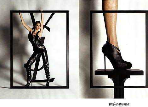 Christy Turlington For Yves Saint Laurent Fall 2009 Ad Campaign