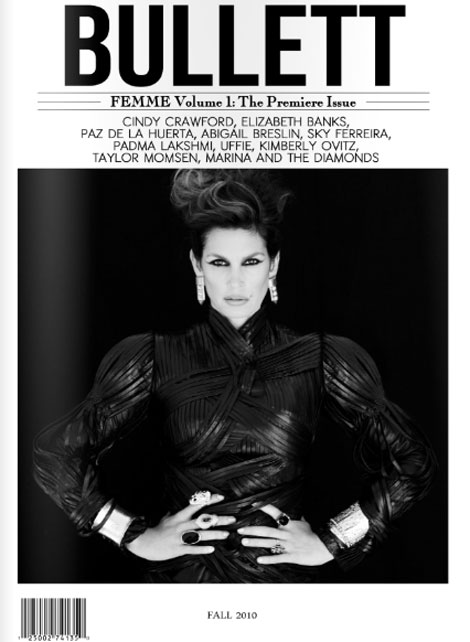 Cindy Crawford Bullett Magazine First Issue Cover