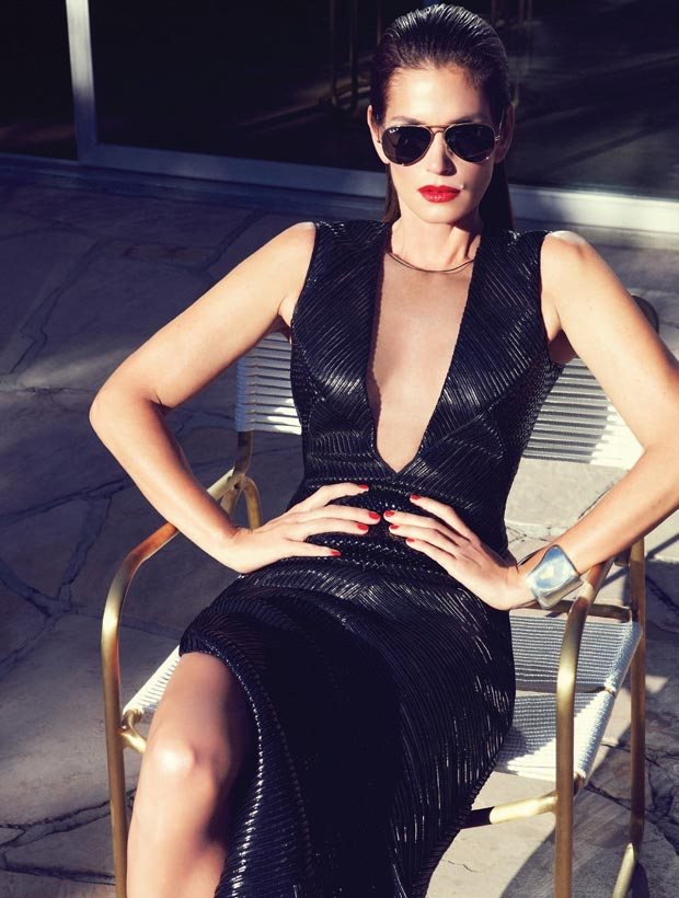 Cindy Crawford Harper s Bazaar Brazil February aviators