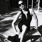 Cindy Crawford Harpers Bazaar Brazil black and white