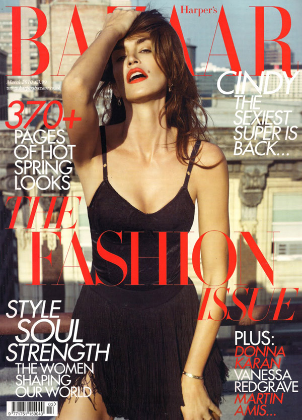 Cindy Crawford Harpers Bazaar March 2010 1