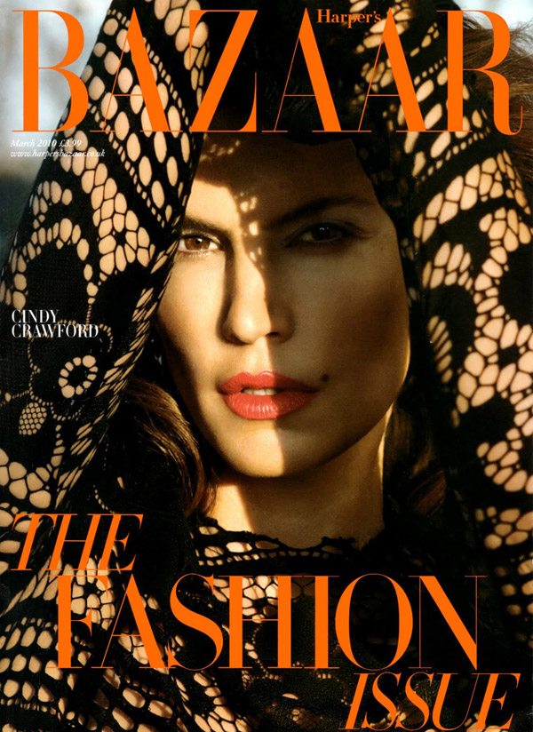 Cindy Crawford Harpers Bazaar March 2010 2
