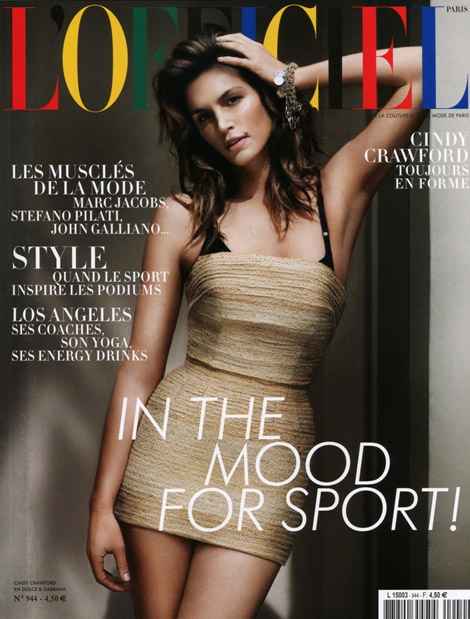 Cindy Crawford L Officiel cover