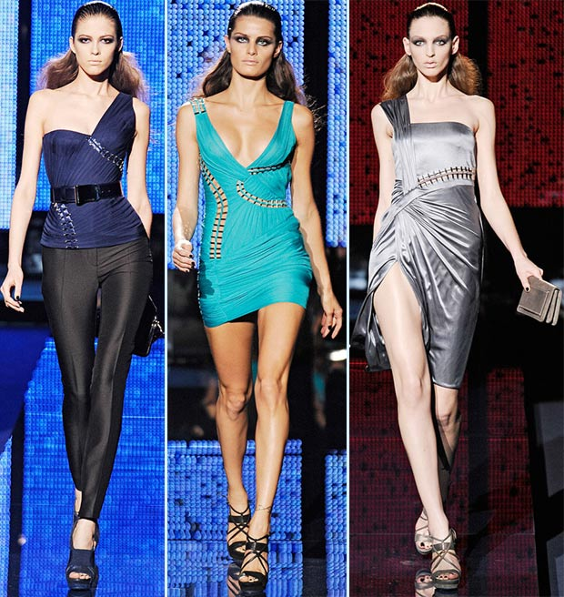 Cindy Crawford MET dress inspired by Versace fall 2009