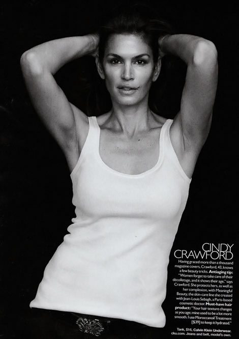 Cindy Crawford Supermodels Supernatural Harper s Bazaar September 09