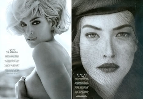 Cindy Crawford Tatjana Patitz C September 2009