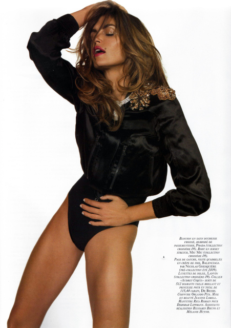 Cindy Crawford Vogue Paris November 2008 1