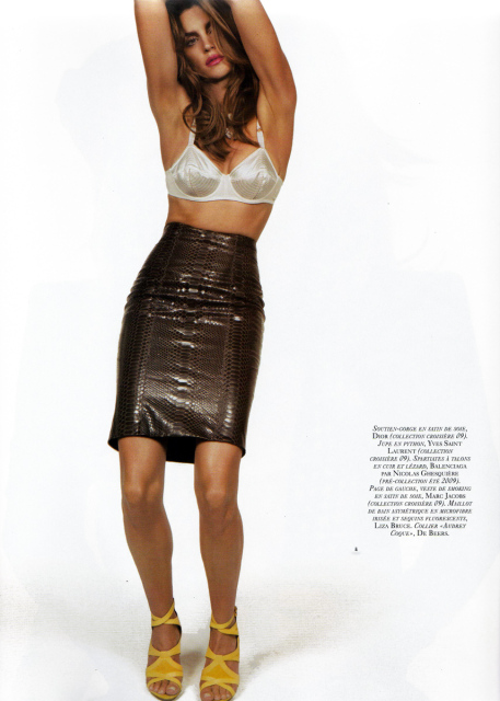 Cindy Crawford Vogue Paris November 2008 2