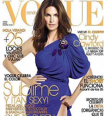 Cindy Crawford Vogue Spain August 2009 cover