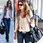 Cindy Crawford without makeup looking casual