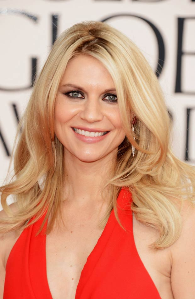 Claire Danes 2013 Golden Globes hair makeup