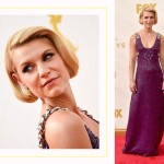 Claire Danes 2015 Emmy Awards red carpet hairdo